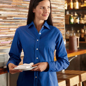 Women's Long Sleeve Stain Resistant Oxford Shirt