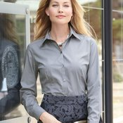 Ladies' Silky Poplin Shirt