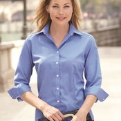 Ladies' Three-Quarter Sleeve Baby Twill Shirt