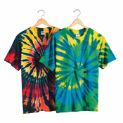 Multi-Color Cut-Spiral Short Sleeve T-Shirt
