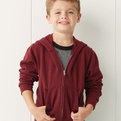 NuBlend® Youth Full-Zip Hooded Sweatshirt