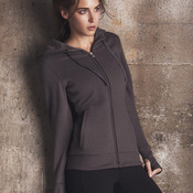 Ladies' Performance Fleece Hooded Full-Zip