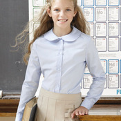 Girls' Long Sleeve Peter Pan Poplin Shirt
