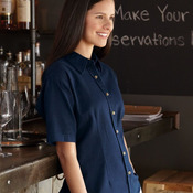 Ladies' Short Sleeve Cotton Twill Shirt