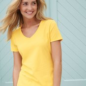 Ladies' V-Neck Nano-T®