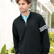 ClimaLite 3-Stripes French Terry Quarter-Zip Pullover