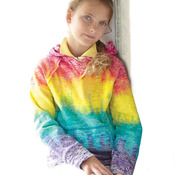 Girls' Courtney Burnout V-Notch Hooded Sweatshirt