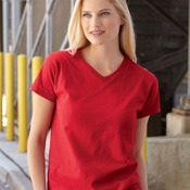 Ladies' Heavy Cotton HD™ V-Neck T-Shirt