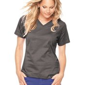 Ladies' Short Sleeve V-Neck T-Shirt