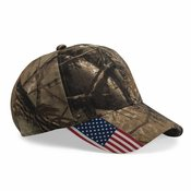 Cap with American Flag on Visor