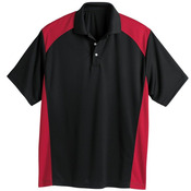Spirit Racing Colorblocked Moisture-Free Mesh Sport Shirt