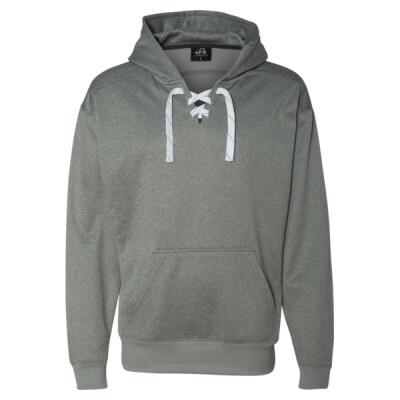 Sport Lace Polyester Fleece Hooded Sweatshirt